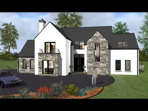 irish house plans ie irish house plans house type mod037 exterior youtube