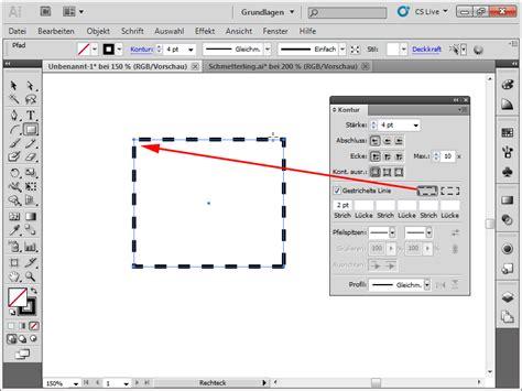 adobe illustrator tutorial zeichnen illustrator pfeil gestrichelte linie pfeilspitze