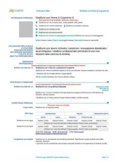 curriculum europeo da compilare pdf des photos des photos de fond curriculum vitae formato europeo da compilare