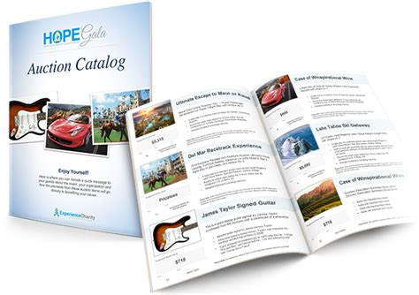 Build Your Own Charity Auction Catalog Template Sales Catalog Template