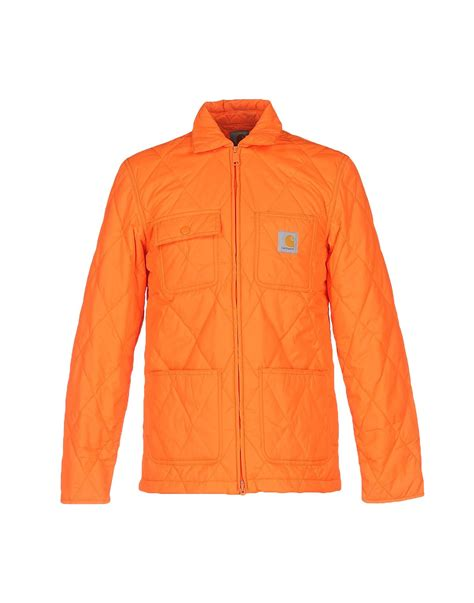 Jacket Orange lyst carhartt jacket in orange for