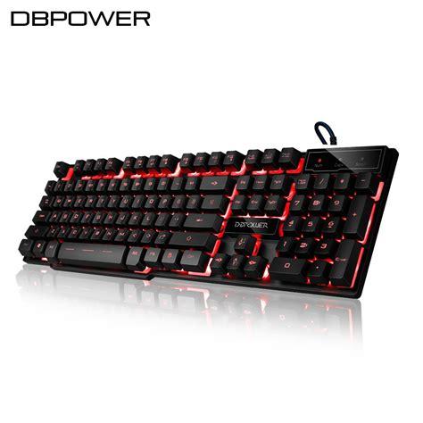 db power dbpower backlit gaming keyboard led 3 color backlight usb