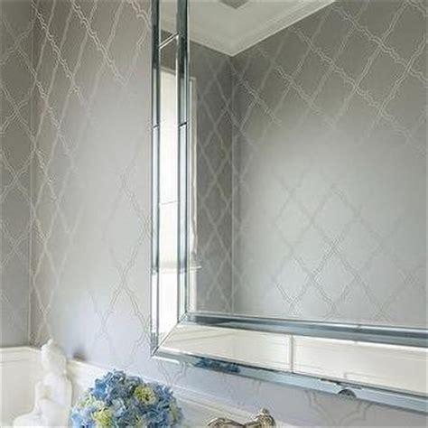 white and silver bathroom ideas silver bathroom wallcovering design ideas