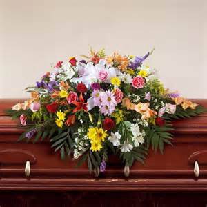 Boutonnieres And Corsages Celebration Of Life Casket Spray