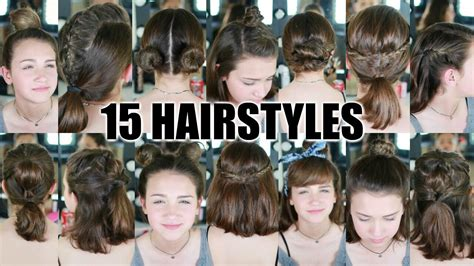 back to school hairstyles for straight hair 15 heatless hairstyles for short hair back to school youtube