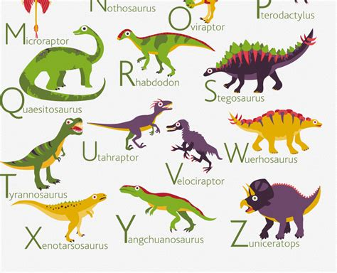 printable dinosaur alphabet book english dinosaurs alphabet poster pukaca