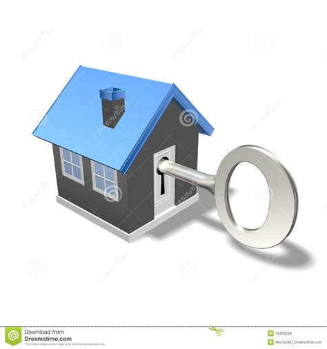Large Estate House Plans house and key royalty free stock image image 15405266