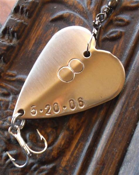 eighth bronze anniversary gift 8th wedding anniversary gift for him husband or fishing lure