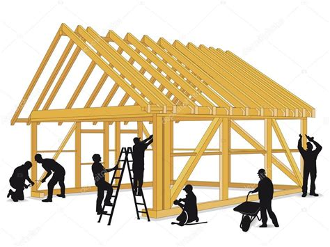 Construir casa de madeira ? Vetores de Stock © scusi0 9