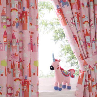 unicorn curtains bluezoo kids castle and unicorns pair of curtains