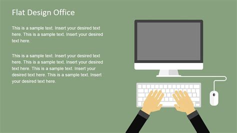 flat design office powerpoint templates slidemodel