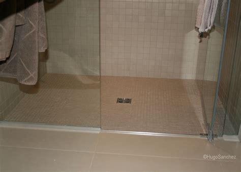 basement curbless shower c233ramiques hugo sanchez inc