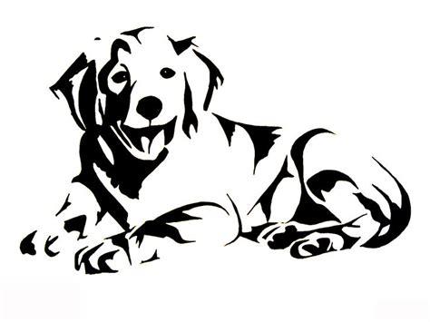 golden retriever outline les 141 meilleures images 224 propos de crafts silhouette sur este