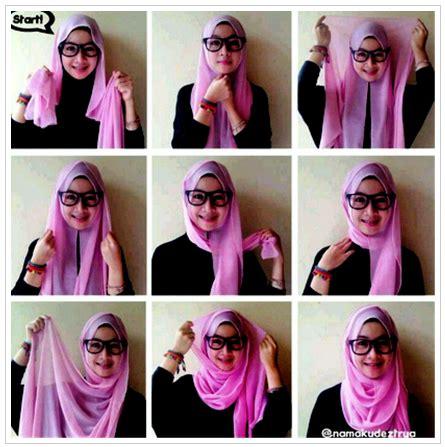 Gambar Tutorial Hijab Berkacamata | gambar tutorial hijab untuk yang berkacamata terbaru 2016