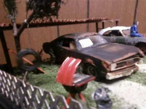 model car diorama redneck backyard youtube