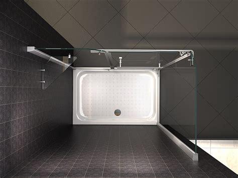 piatto doccia 150x70 box doccia angolare vetro trasparente opaco bagno italia pa