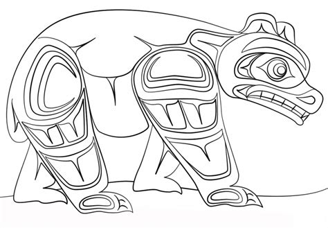 aboriginal designs coloring pages haida art bear canadian art coloring page art culture