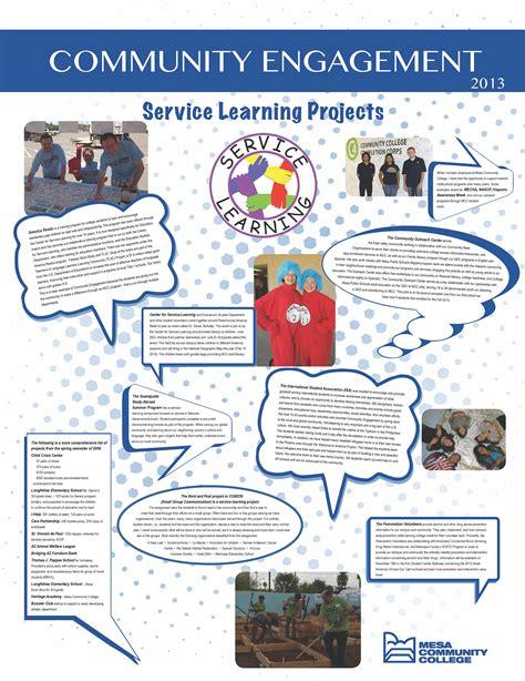 service project engagement posters community civic engagement mesa community college