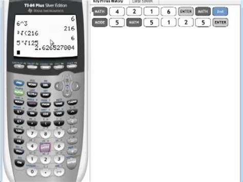 calculator x to the power of y ti 84 tutorial exponentiation how to raise any value to