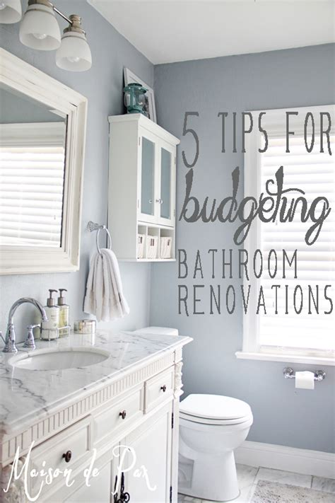 Bathroom On A Budget by Bathroom Renovations Budget Tips