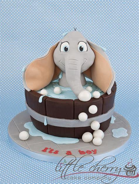 elephant in the bathtub elephant bath baby shower cake boy baby shower
