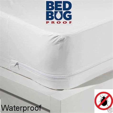 size zippered mattress cover vinyl keeps out bed bugs