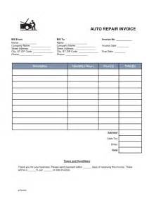 auto mechanic invoice template free auto mechanic invoice template pdf word