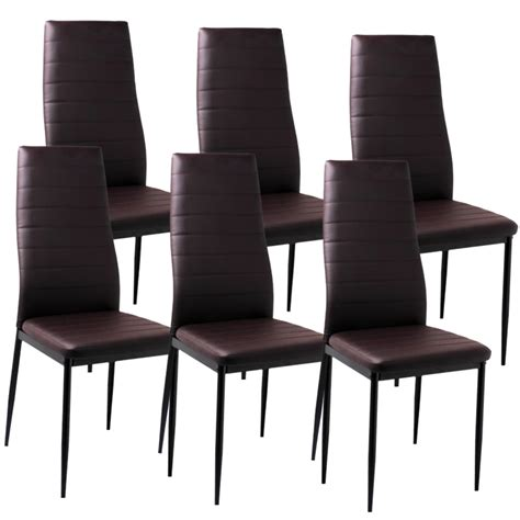 Meuble Tv De Coin 1357 by Deco In Lot De 6 Chaises Marron Iris Iris X6 Marron