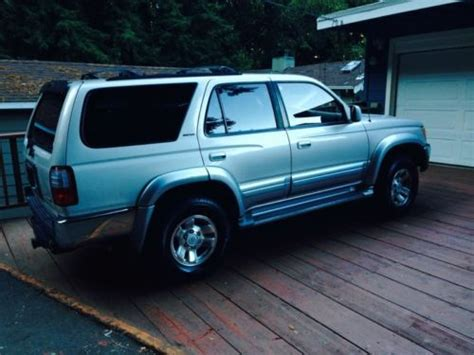 how cars engines work 1997 toyota 4runner security system find used 1997 toyota 4runner limited silver leather excellent running some body dmg in