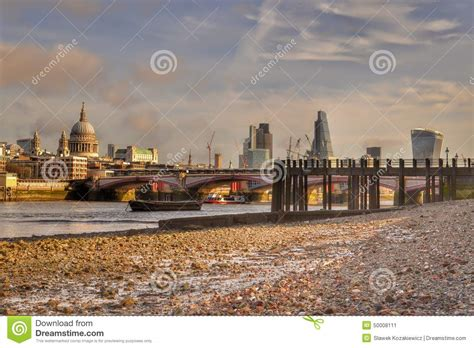 thames river low tide london skyline river thames low tide editorial photo