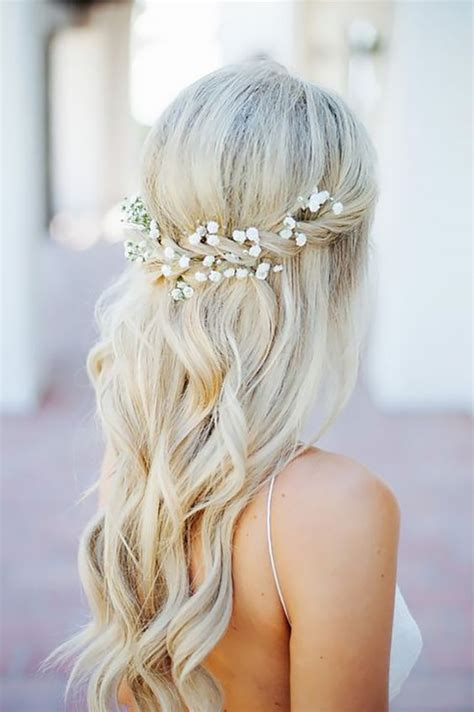 half up half down hairstyles for bridesmaids half up half down wedding hairstyles we are in love with