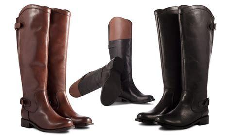 hoge leren laarzen groupon goods