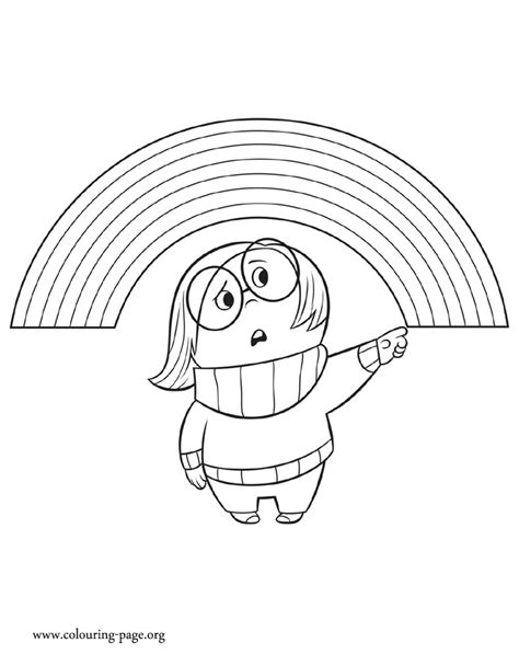 inside out emotions coloring page inside out sadness an emotion of riley coloring page