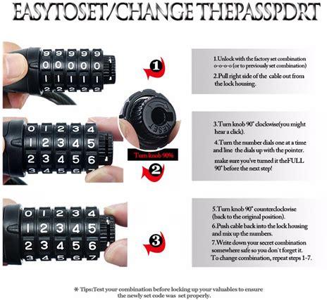 Kunci Gembok Sepeda 5 Digit Kunci Kombinasi Anti Maling gembok sepeda kode angka 5 digit black jakartanotebook
