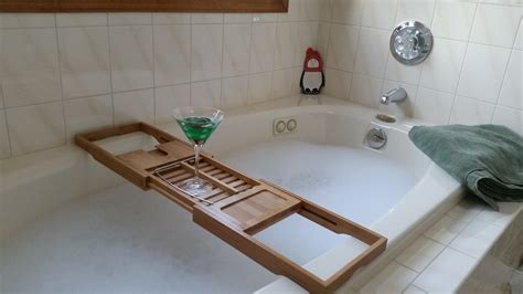 shower spa bath bathroom bath tub caddy for spa like atmosphere in the