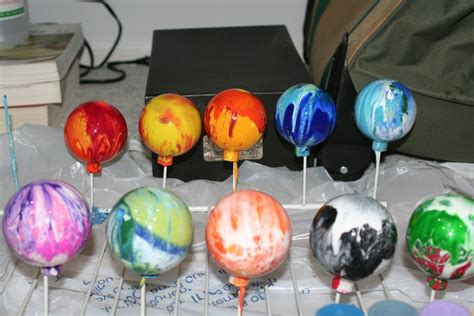 acrylic paint glass ornaments marblized glass ornaments 183 how to make a bauble