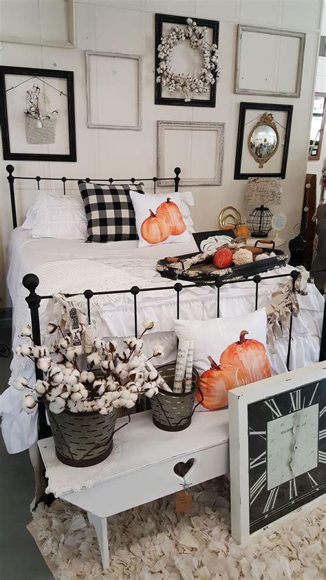 fall decorating  shop displays buffalo check pillows