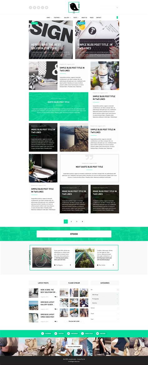 blog layout template psd bird elegant magazine blog psd template by wwwebinvader