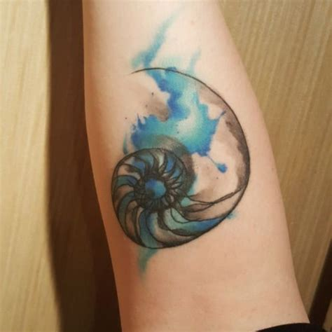 watercolor tattoo san diego watercolor nautilus by vinh huynh at black and blue