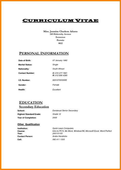 template za cv new professional cv south africa livoniatowing co