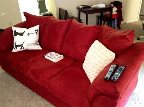 decorating with red couches how to decorate around red sofa good questions
