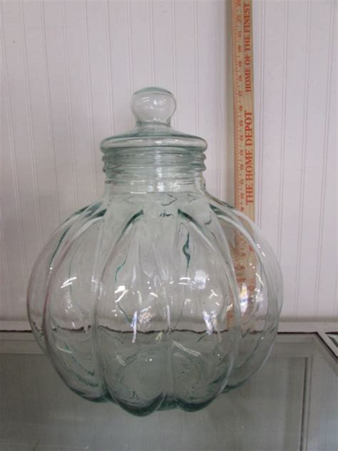 lot detail beautiful large decorative glass jar