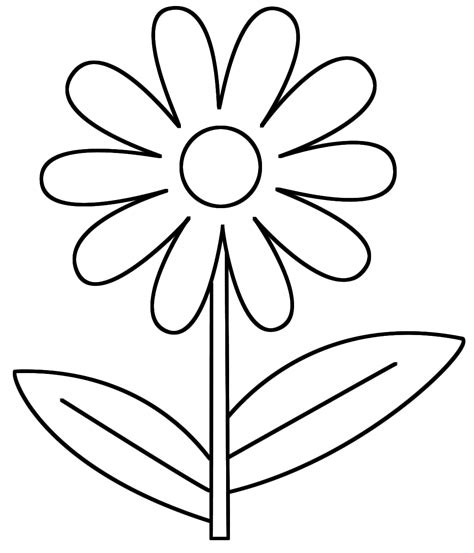 flower coloring sheets 7