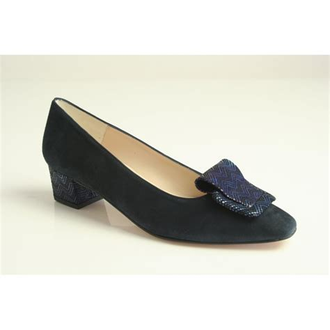 blue patterned shoes hb h b espana blue suede heeled shoe with a patterned heel