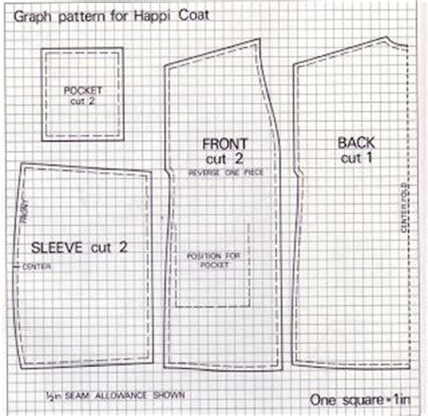 japanese happi pattern happi coat sewing pinterest