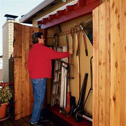 Tool Store Shed by How To Make An Eaves Toolshed Sunset