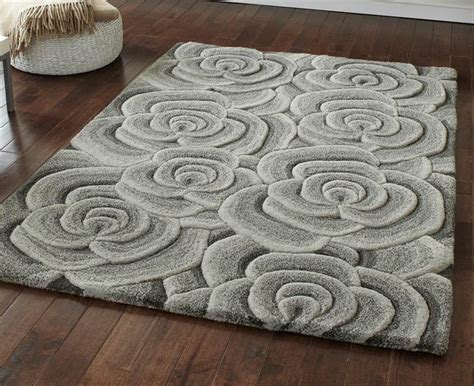 rugs with roses on them green beige grey modern luxury wool rug with large flowers roses thick pile ebay