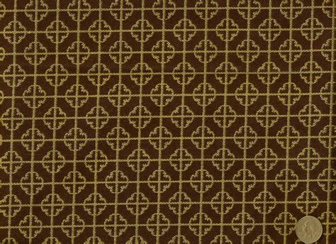 tan upholstery fabric woven asian oriental medallion geometric brown tan