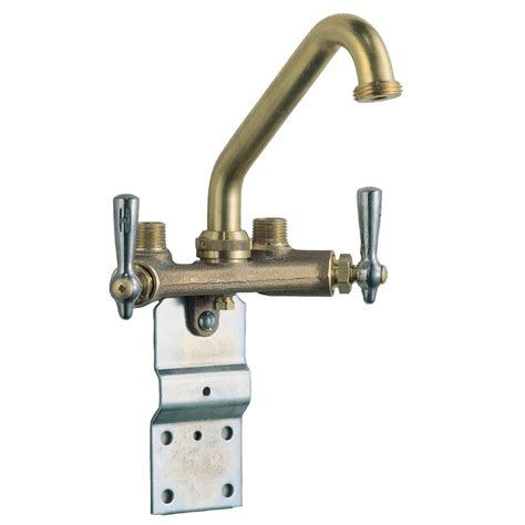 utility faucet lowes waltec 29w813 rough brass 2 handle laundry faucet lowe s