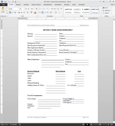 trade show lead form template trade show worksheet template